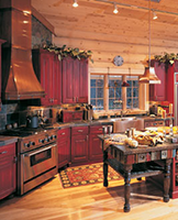 Red Rustic Kitchen